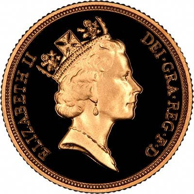 Obverse of 1986 Proof Sovereign