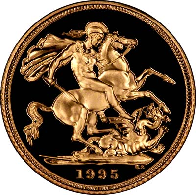 Reverse of 1995 Proof Sovereign