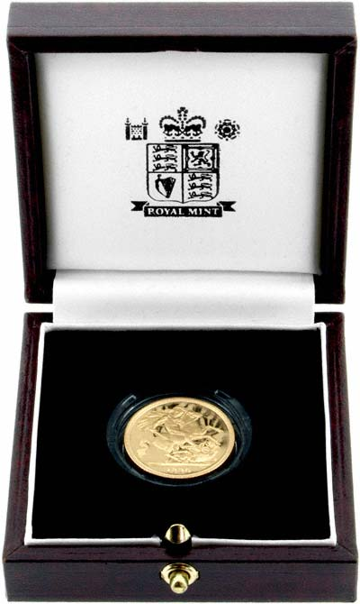 Reverse of 1996 Proof Sovereign in Presentation Box