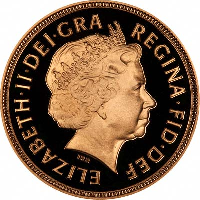 Fourth Portrait on Obverse of 1998 Proof Sovereign