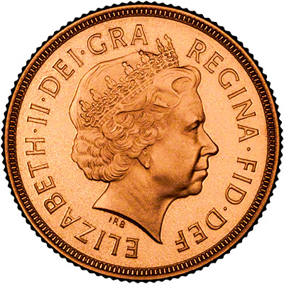 Obverse of 1998 Proof Sovereign