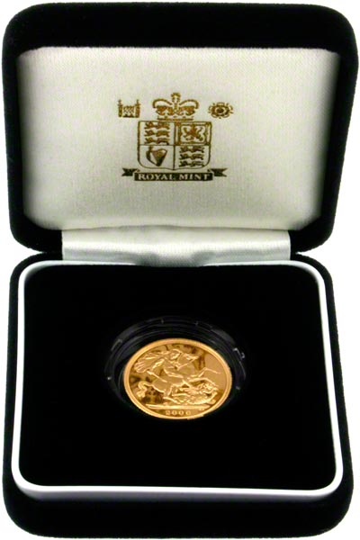2000 Proof Sovereign in Presentation Box