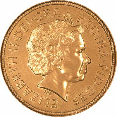 Obverse of 2002 Sovereign