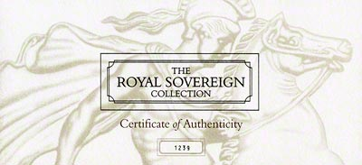 The Royal Sovereign Collection Certificate