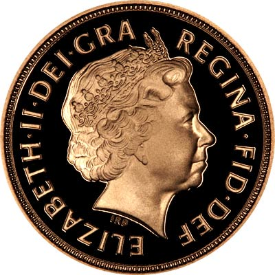Obverse of 2004 Proof Sovereign