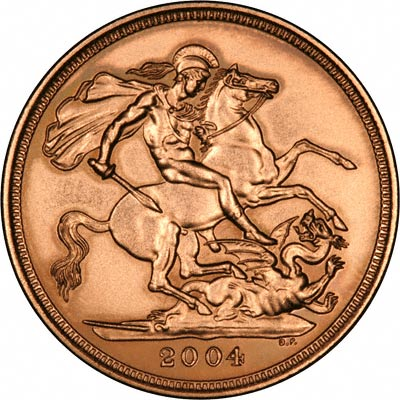 Obverse of 2004 Uncirculated Sovereign