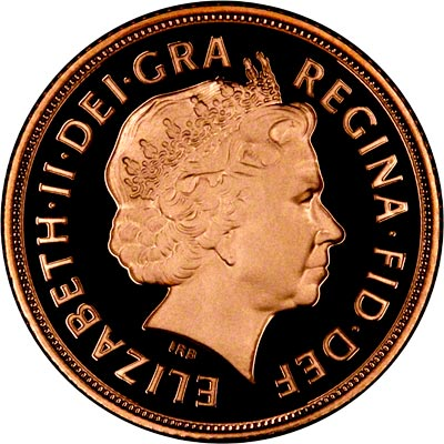 Obverse of 2005 Proof Sovereign