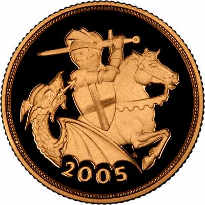 New Image of St. George & Dragon on Reverse of 2005 Proof Sovereign