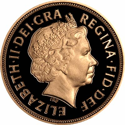 Obverse of 2007 Proof Sovereign