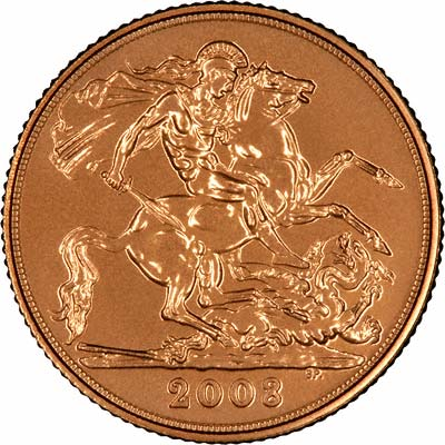 Reverse of 2008 Uncirculated Sovereign