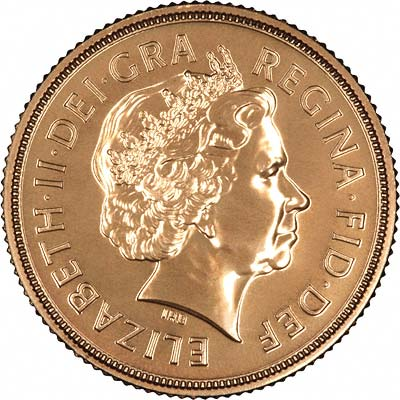 Obverse of 2009 Uncirculated Sovereign