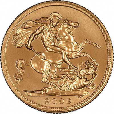 Reverse of 2009 Uncirculated Sovereign
