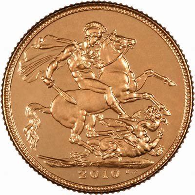 Reverse of 2010 Uncirculated Sovereign