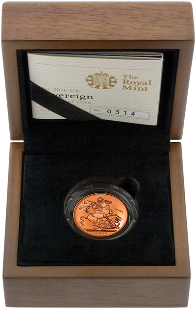 2010 Proof Sovereign in Presentation Box