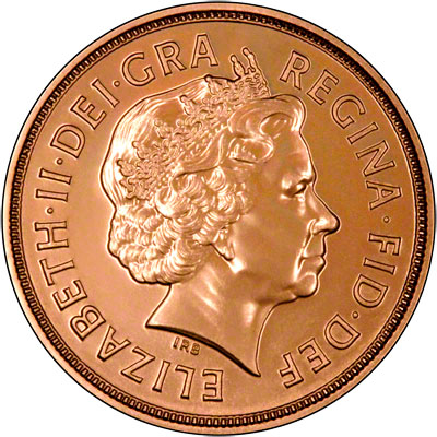 Obverse of 2012 Uncirculated Sovereign