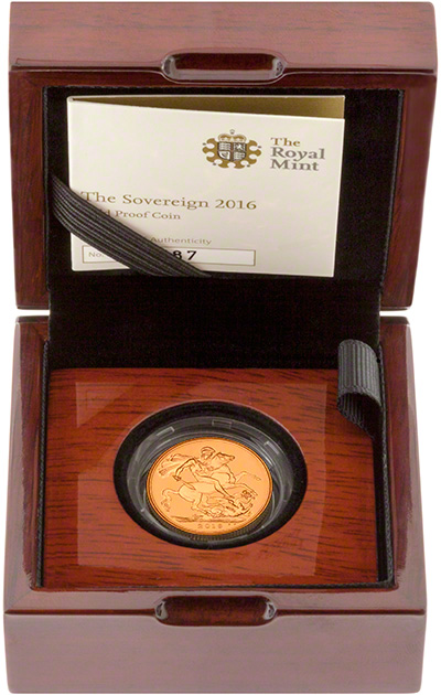 2016 Gold Proof Sovereign in Presentation Box