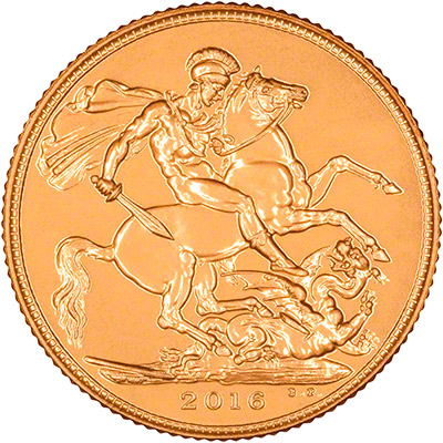 Reverse of 2016 Uncirculated Sovereign