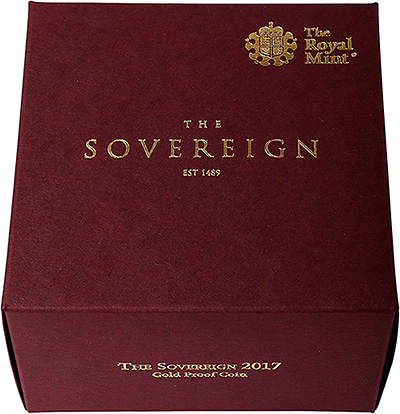 2017 proof sovereign in presentation box