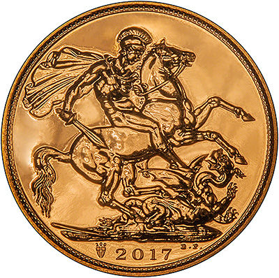 Reverse of 2017 Uncirculated Sovereign