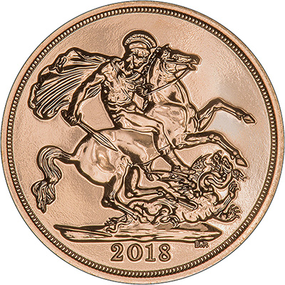 Reverse of 2018 Gold Sovereign