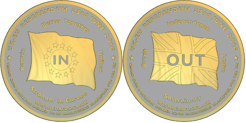 2016 UK EU IN OUT Medallion