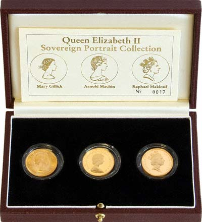 Gold Portrait Collection of Queen Elizabeth II Gold Sovereigns by The Royal Mint