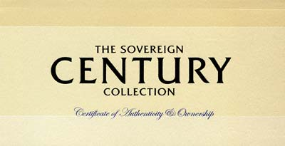 Sovereign Century Collection Certificate of Authenticity & Ownership